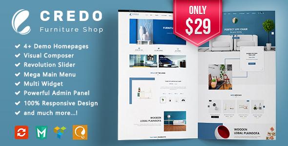 Credo - Furniture Responsive WooCommerce WordPress Theme            TFx Lawrence Tirto