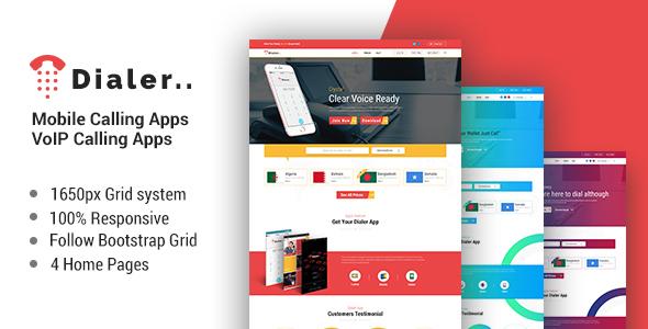 Dialer -VoIP Mobile Calling Apps HTML Templates            TFx Duke Ryota