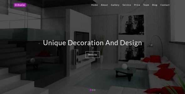 Dibala-Interior and Architecture HTML5 Template            TFx Garrett Noble
