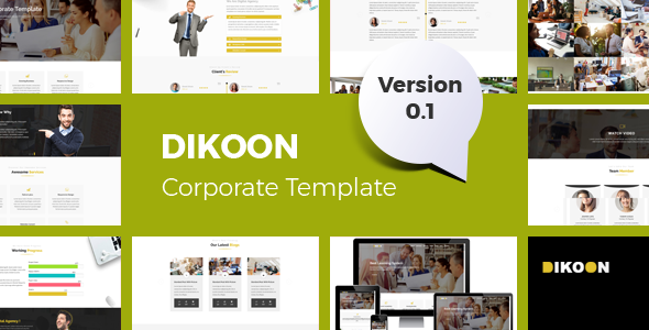 Dikoon – Corporate and Business HTML5 Responsive Template            TFx Kiyoshi Arlo