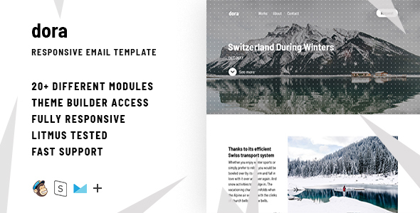 Dora – Responsive Email + StampReady Builder            TFx Wawatam Ern