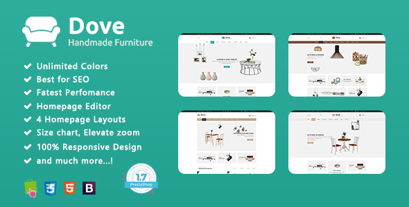 Dove – Multipurpose Prestashop 1.7 Theme Demo Furniture            TFx Oli Elmo