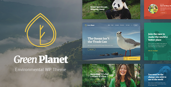 Ecology & Environment WordPress Theme - Green Planet            TFx Corbin Valentine