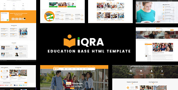 Education Base HTML Template - iQRA            TFx Asher Izzy
