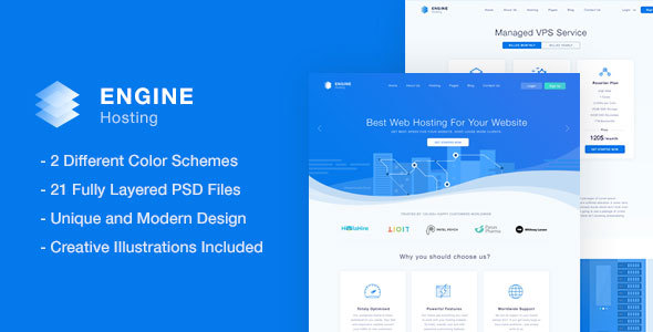 Engine Hosting - PSD Template            TFx Vergil Alphonzo