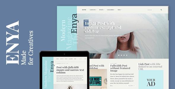 Enya - WordPress Theme for Creatives            TFx Gusti Yolotli