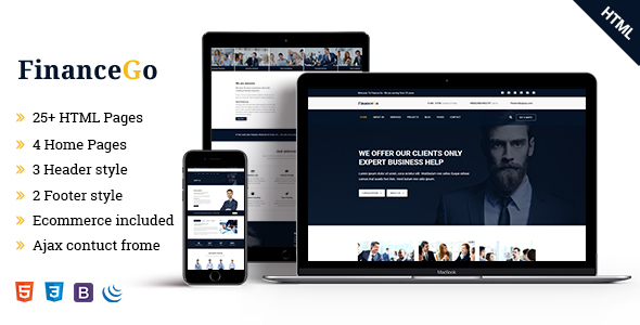 Finance Go - Finance and Business Responsive HTML5 Template            TFx Lalawethika Gage