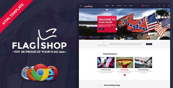 Flag Shop - Political Ecommerce Template            TFx Isador Aucaman