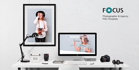 Focus — Photographer portfolio PSD Template            TFx Korey Aucaman