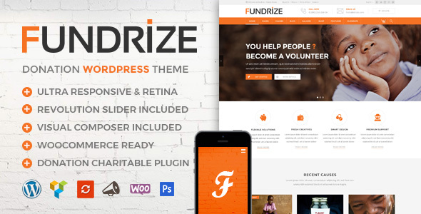 Fundrize - Donation / Charity / Fundraising WordPress Theme            TFx Sparrow Timmy