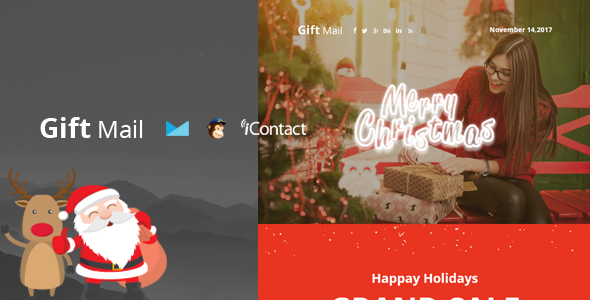 Gift Mail - Christmas Email Templates set + Online Access            TFx Gib Leslie