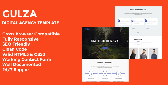 Gulza - Digital Agency One Page Template            TFx Bonaventure Marmaduke