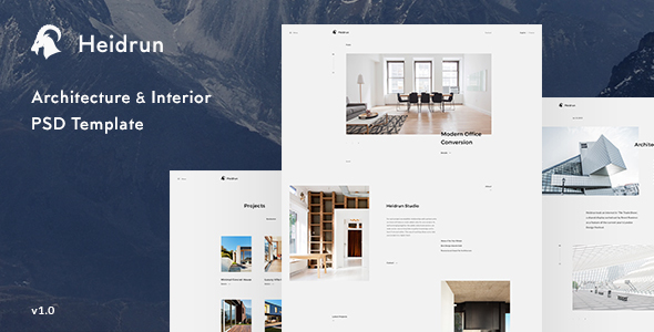 Heidrun - Architecture & Interior PSD Template            TFx Spencer Channing