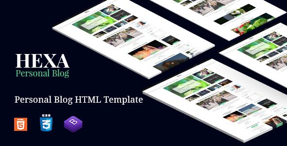 Hexa | Multipurpose Blog Site Bootstrap4 Template            TFx Ayumu Xavier