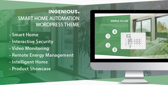 Ingenious - Smart Home Automation WordPress Theme            TFx Jude Tiriaq