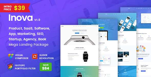 Inova - Multi-concept Landing Page Combo WordPress Theme With RTL            TFx Ormond Iskandar