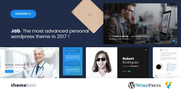 Jab – Advanced Personal Resume / CV vCard Theme            TFx Brayden Garland