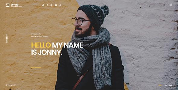Jonny - One Page HTML Template            TFx Wayna Dean
