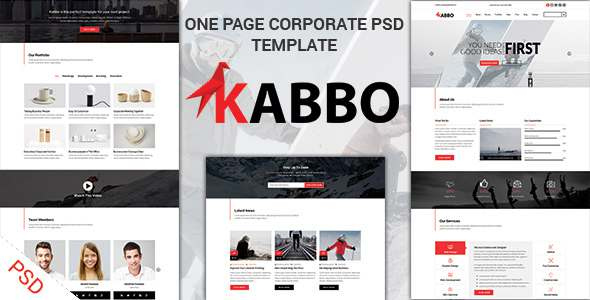 KABBO - One Page Multipurpose PSD Template            TFx Brooks Ayden