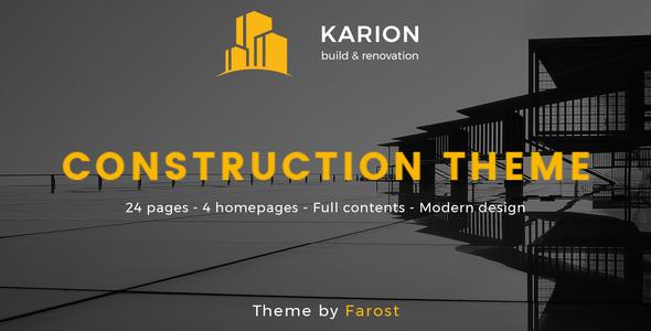 Karion - Construction & Building WordPress Theme            TFx Jarod Darin