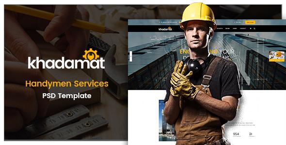 Khadamat – Handymen Services PSD Template            TFx Trey Henrik