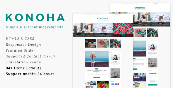 Konoha - Clean & Elegant Blog Template            TFx Maximilian Zhirayr