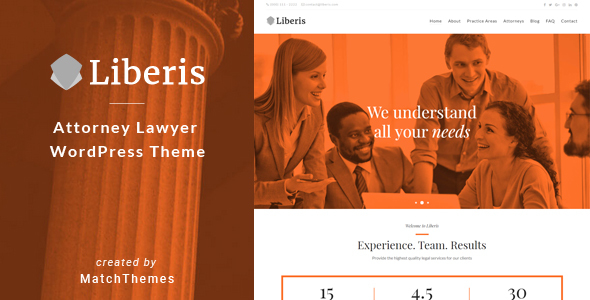 Liberis - Attorney Lawyer WordPress Theme            TFx Johnny Kaiden