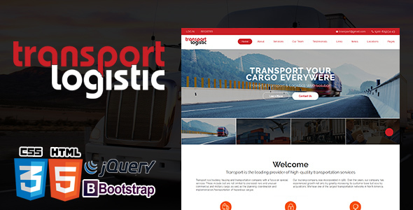 Logistics Transportation | Transera Logistics HTML5 Template            TFx Marlin Katsuro