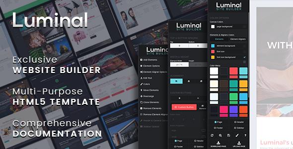 Luminal - Multi-Purpose HTML5 Template (Website Builder included)            TFx Iggy Millard