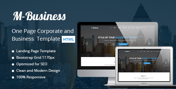 M-Business One Page Corporate and Business Template            TFx Denholm Gordy