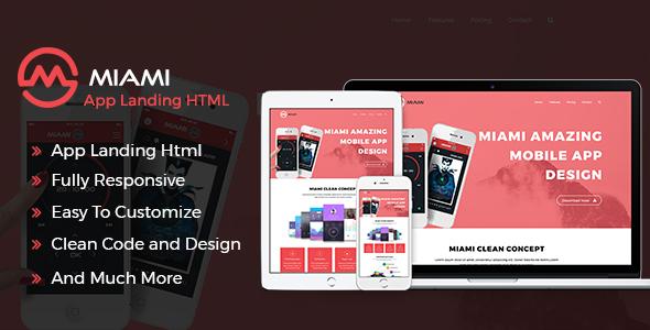 MAYA – Responsive App Landing Page            TFx Rain Preston