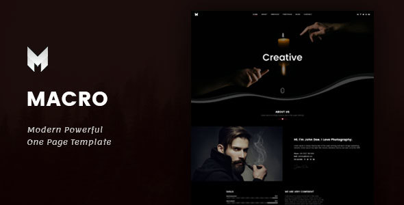 Macro - One Page Parallax Template            TFx Moses Deacon