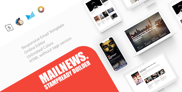 Mail News - Responsive Email Newspaper Magazine News            TFx Leon Aditya