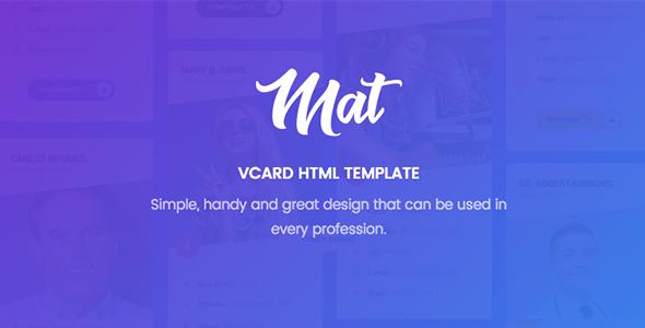 Mat - vCard & Resume Template            TFx Teddy Hayk