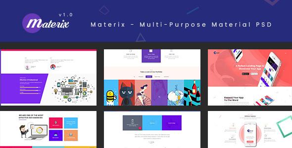 Materix - Multi-Purpose Material PSD Template            TFx Bobbie Gervase