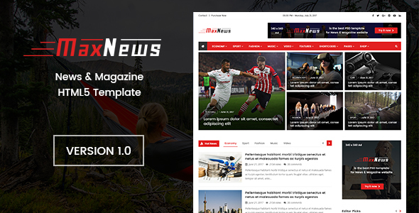 MaxNews | News & Magazine HTML Template            TFx Darren Hall