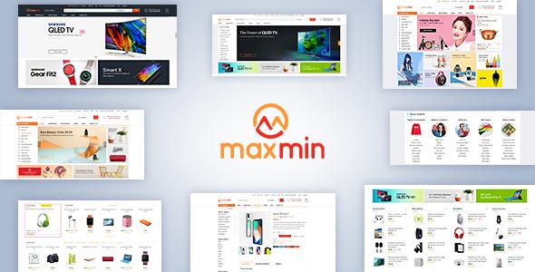 Maxmin - Supermarket eCommerce PSD Template            TFx Ron Kichiro