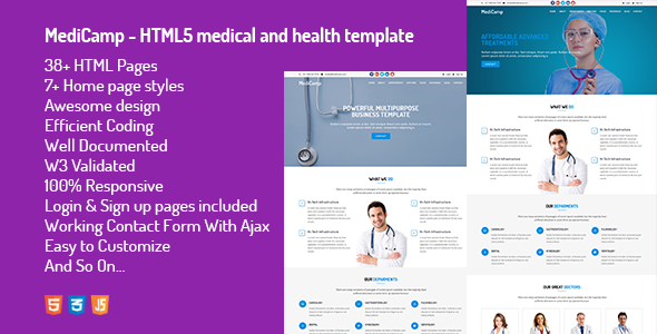 MediCamp - HTML5 medical and health template            TFx Harlow Ren