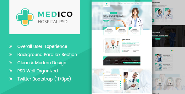 Medico - Hospital and Health PSD Template            TFx Doug Robby