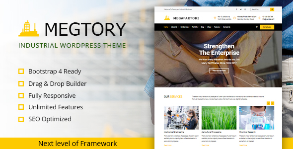 Megtory - Industrial WordPress Theme            TFx Stanley Norm