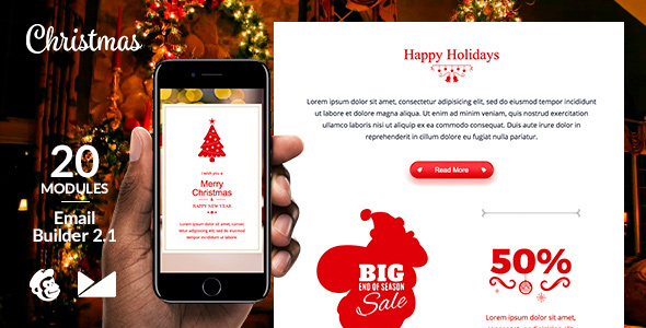Merry X-Mas Email Template + Online Emailbuilder 2.1            TFx Joseph Oscar