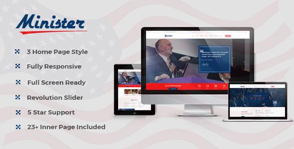 Minister- Political HTML Template            TFx Katsu Russel