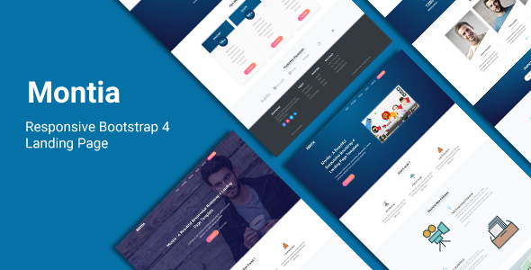Montia - Responsive Bootstrap 4 Landing Page            TFx Omar Pearce