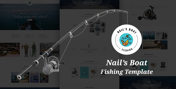 Nails Boat - Fishing and Hunting Club HTML Template            TFx Tarquin Aubrey