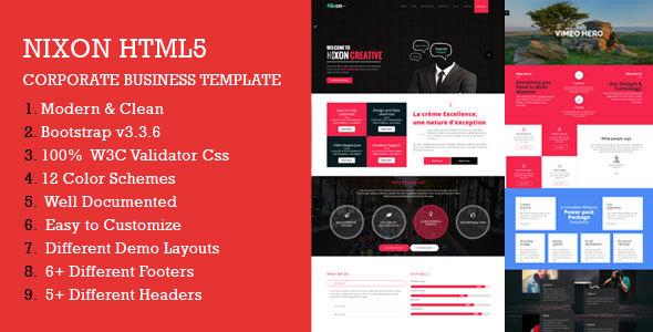 Nixon - Responsive Multi-Purpose HTML Template            TFx Kaneonuskatew Gavin