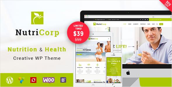Nutricorp | Nutrition & Health Creative WordPress Theme            TFx Dwain Collin