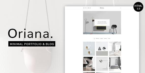 Oriana - Minimal Portfolio & Blog HTML            TFx Dalton Ambrose