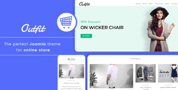 Outfit - Minimalist Responsive eCommerce Joomla template            TFx Bud Levi