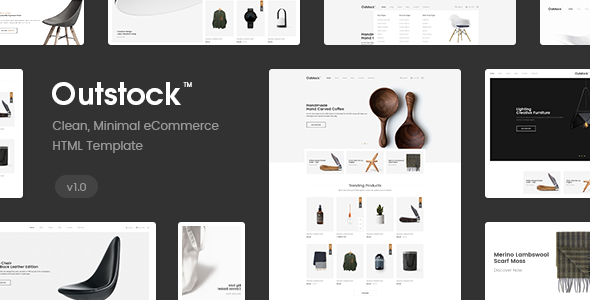 Outstock - Clean, Minimal eCommerce HTML5 and Bootstrap Template            TFx Darwin Akio