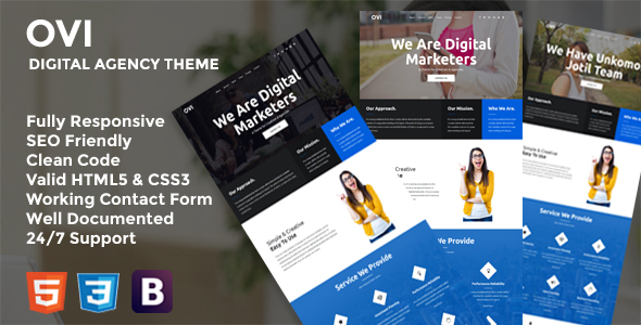Ovi - Digital Agency Bootstrap Template            TFx Ricki Dane